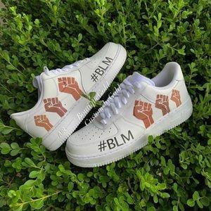 BLM ✊🏻✊🏼✊🏽✊🏾✊🏿 Customs Nike Air Force 1